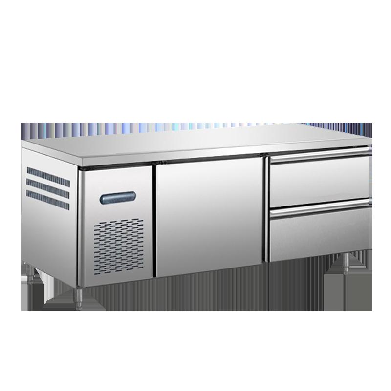抽屉式冷柜工作台冷藏柜保鲜平冷工作台冷柜定制商用冰箱冷冻厨房奶茶店