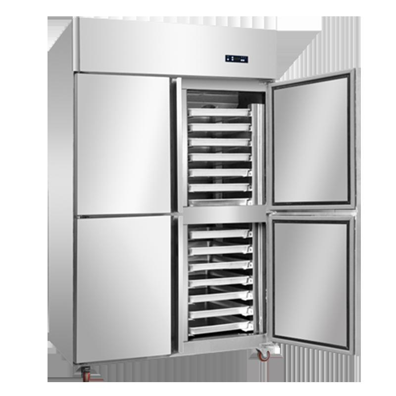 單門雙門三門四門六門餅盤冷柜商用不銹鋼冰柜烘焙插盤冷柜冷柜廠家廚房立式烤盤冷凍柜風冷