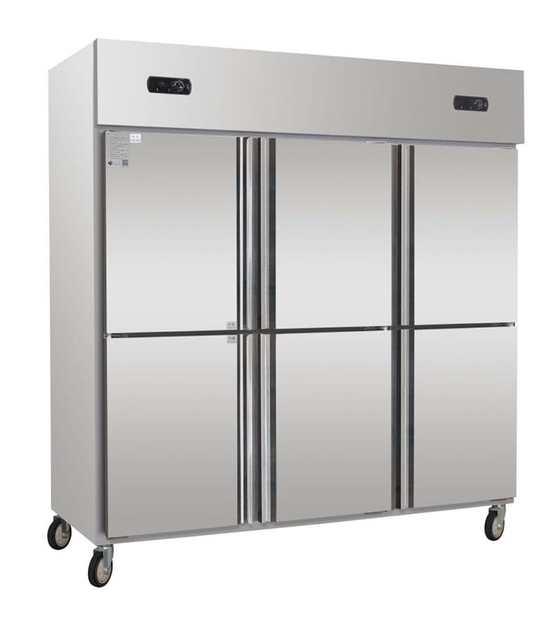 酒店餐厅酒楼六门不锈钢双温厨房冷柜展示冷柜