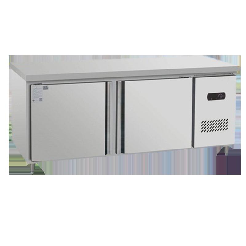 不锈钢工作台冰柜商用冰箱大容量厨房操作台奶茶店保鲜柜冷柜定制卧式冷藏冷冻柜