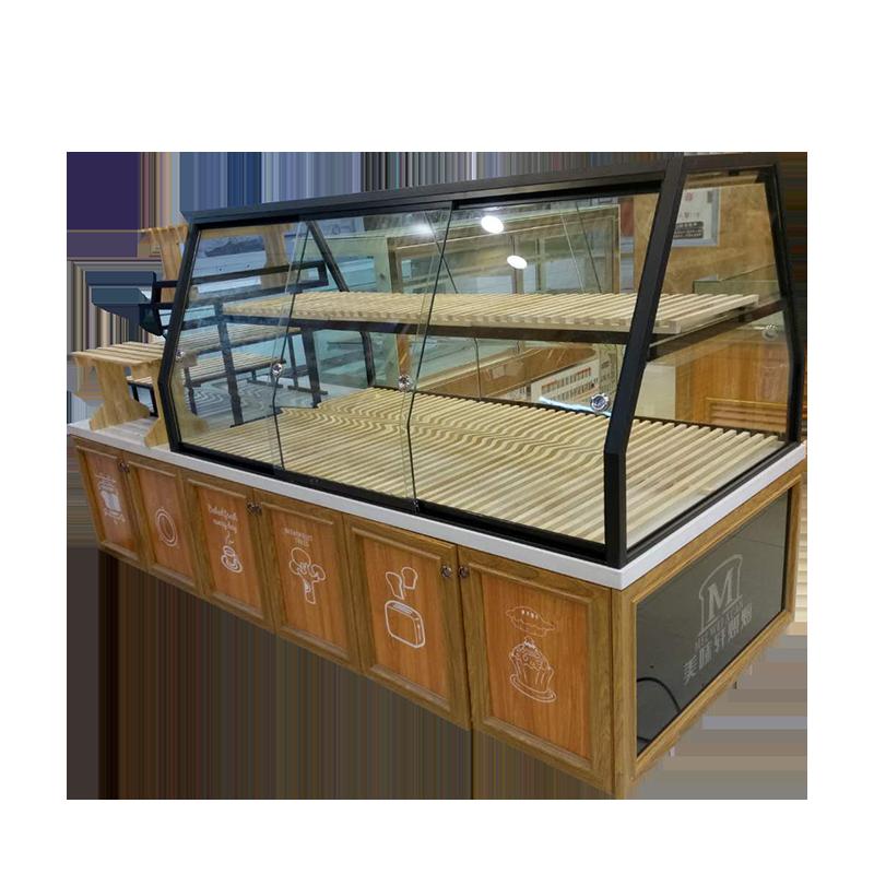 新款铝合金款面包房展示柜边柜冷柜定制中岛柜蛋糕模型展架